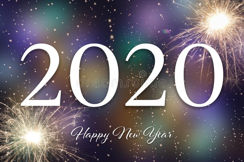 Happy New Year 2020. New Year card. Happy New Year 2020. New Year greeting card royalty free stock photography