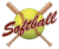 Softball Team Design Stock Photography